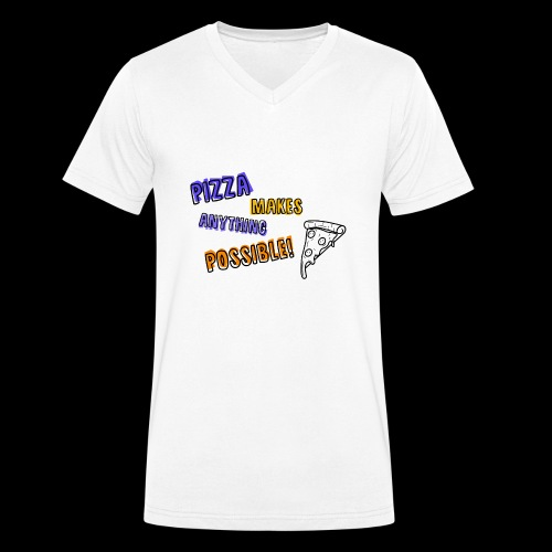 Pizza makes anything possible! - Colorful Design - T-shirt ecologica da uomo con scollo a V di Stanley & Stella