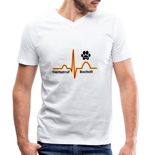 Tiernotruf Bocholt - Männer Bio-T-Shirt mit V-Ausschnitt von Stanley & Stella