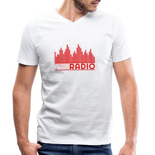 NEW TMI LOGO RED AND WHITE 2000 - Men's Organic V-Neck T-Shirt by Stanley & Stella