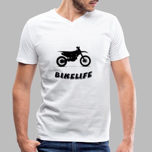 Bikelife - Ekologisk T-shirt med V-ringning herr från Stanley & Stella