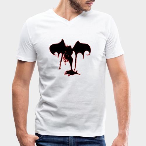 DEMONIA - Camiseta ecológica hombre con cuello de pico de Stanley & Stella