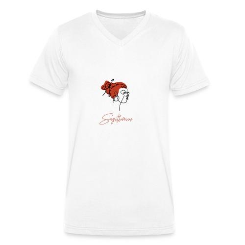 Sagittarius Zodiac Sign Line Art - Männer Bio-T-Shirt mit V-Ausschnitt von Stanley & Stella