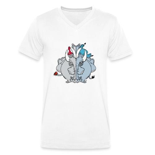 Bästa vänner - Ekologisk T-shirt med V-ringning herr från Stanley & Stella