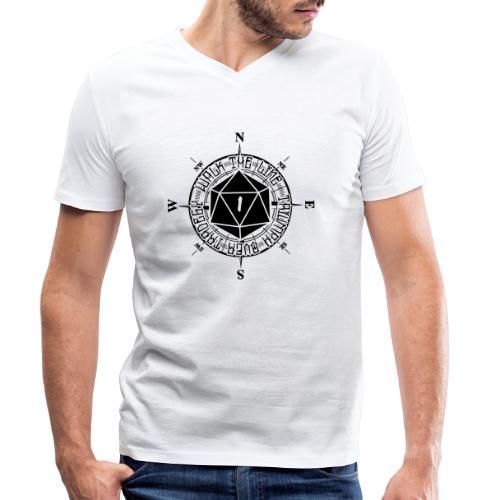 Walk the line - Ekologisk T-shirt med V-ringning herr från Stanley & Stella