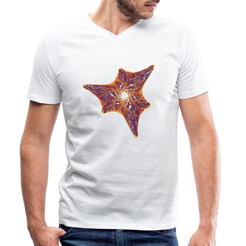 Starfish Ammonite Urtier 12000I - Men's Organic V-Neck T-Shirt by Stanley & Stella