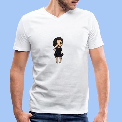 gotic waifu - Camiseta ecológica hombre con cuello de pico de Stanley & Stella