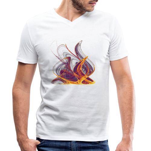 Kaminfeuer Lagerfeuer Flammengezüngel Feuer 12435i - Männer Bio-T-Shirt mit V-Ausschnitt von Stanley & Stella
