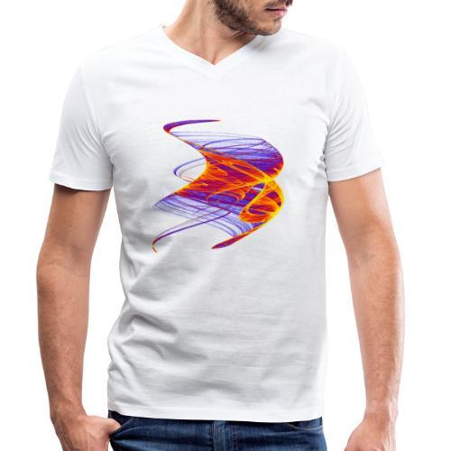 Firestorm Fire Roller Flame Sea Fire Column 12771 - Men's Organic V-Neck T-Shirt by Stanley & Stella