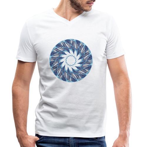 Chakra Mandala Mantra OM Chaos Stern Kreis 12235ic - Männer Bio-T-Shirt mit V-Ausschnitt von Stanley & Stella