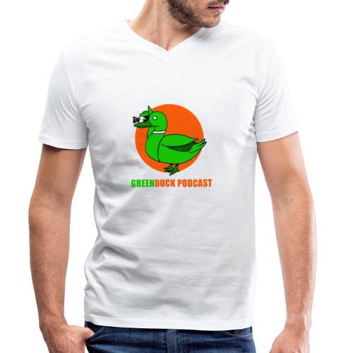 Greenduck Podcast Logo - Økologisk Stanley & Stella T-shirt med V-udskæring til herrer