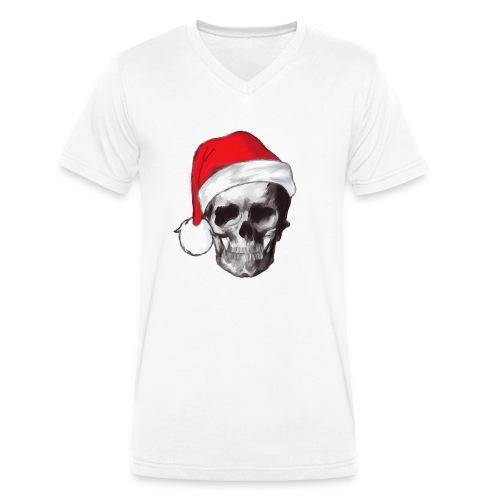 weihnachten-skull Weihnachtsmann - Männer Bio-T-Shirt mit V-Ausschnitt von Stanley & Stella