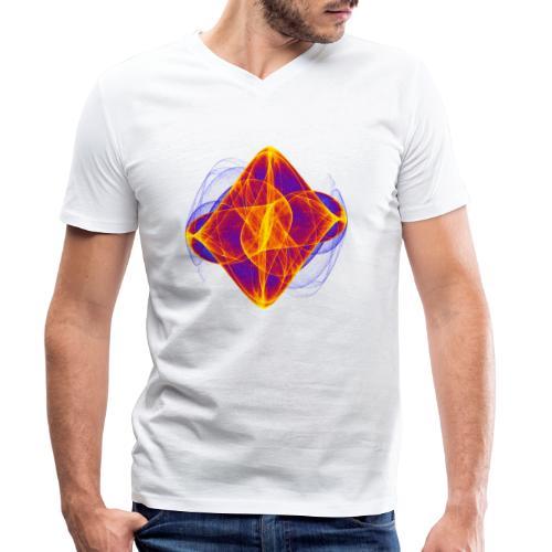 Aquarell Kunstgrafik Gemälde Bild Chaos 6769bry - Männer Bio-T-Shirt mit V-Ausschnitt von Stanley & Stella