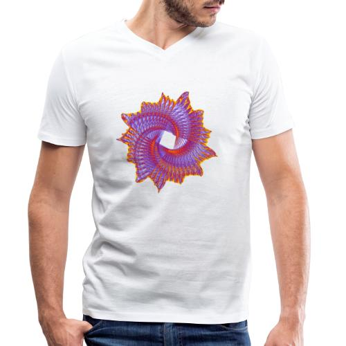 Spiral fan ammonite prehistoric animal fossil 11912bry - Men's Organic V-Neck T-Shirt by Stanley & Stella