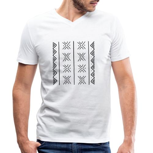 mudcloth-bogolan - T-shirt bio col V Stanley & Stella Homme
