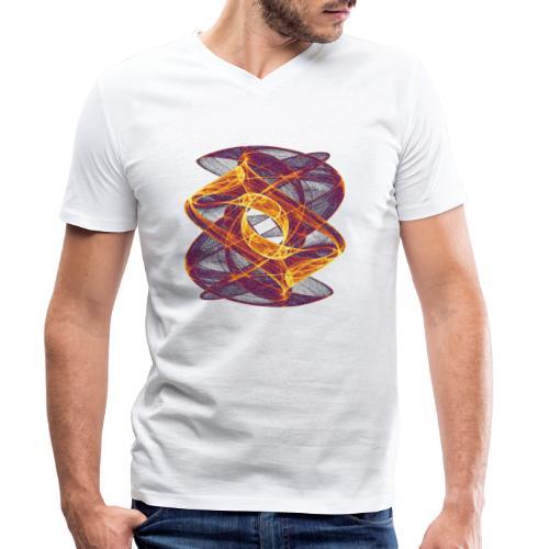 Eye in Inferno 7247i - Men's Organic V-Neck T-Shirt by Stanley & Stella