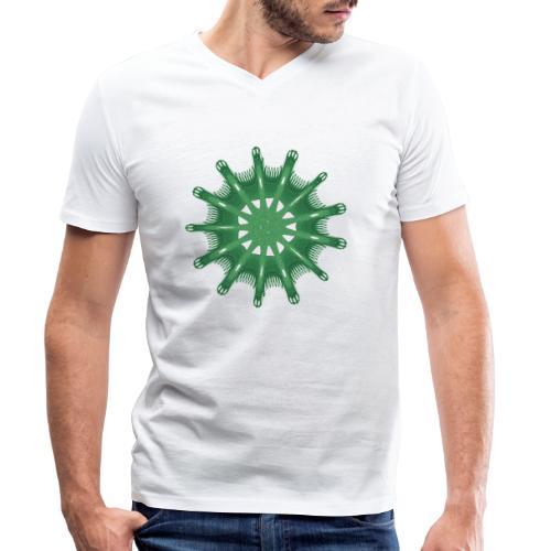 green steering wheel Green starfish 9376alg - Men's Organic V-Neck T-Shirt by Stanley & Stella