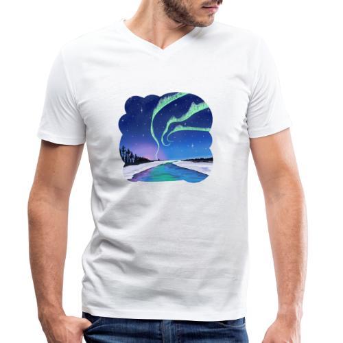 Réflexion des aurores boréales - T-shirt bio col V Stanley & Stella Homme