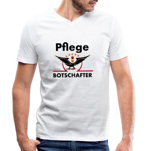 Pflegebotschafter.com - Männer Bio-T-Shirt mit V-Ausschnitt von Stanley & Stella