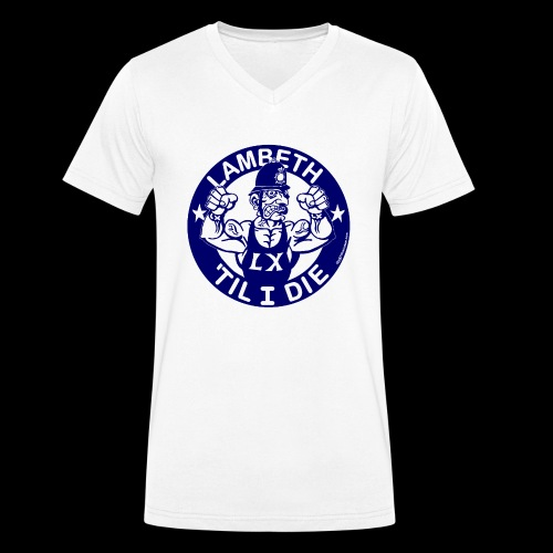 LAMBETH - NAVY BLUE - Men's Organic V-Neck T-Shirt by Stanley & Stella