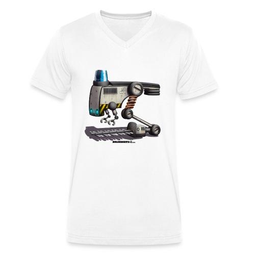 The F.L.O.W.E.R. Robot! - Økologisk Stanley & Stella T-shirt med V-udskæring til herrer