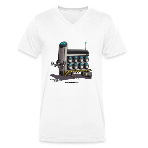 The S.T.A.F.F. Robot! - Økologisk Stanley & Stella T-shirt med V-udskæring til herrer