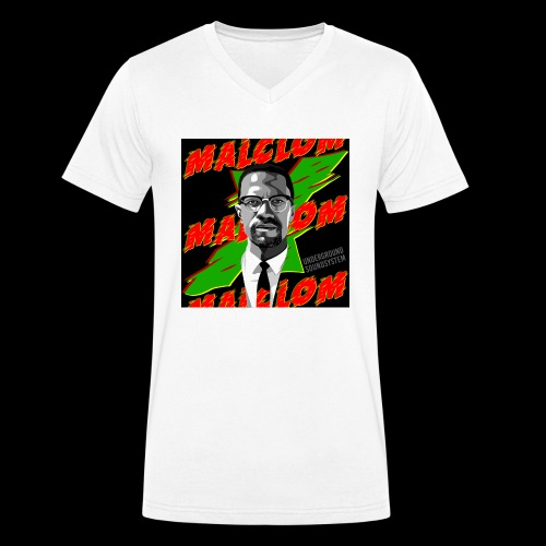MALCOM by UNDERGROUND SOUNDSYSTEM - Männer Bio-T-Shirt mit V-Ausschnitt von Stanley & Stella