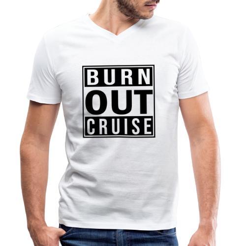Kreuzfluenzer - Burnout Cruise - Männer Bio-T-Shirt mit V-Ausschnitt von Stanley & Stella