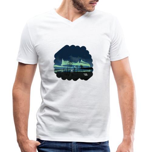 Reflet des aurores boréales - T-shirt bio col V Stanley & Stella Homme