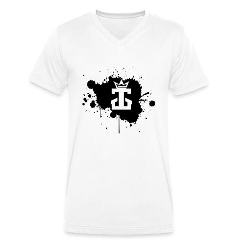 Jamie Gos Logo Splatter - Men's Organic V-Neck T-Shirt by Stanley & Stella