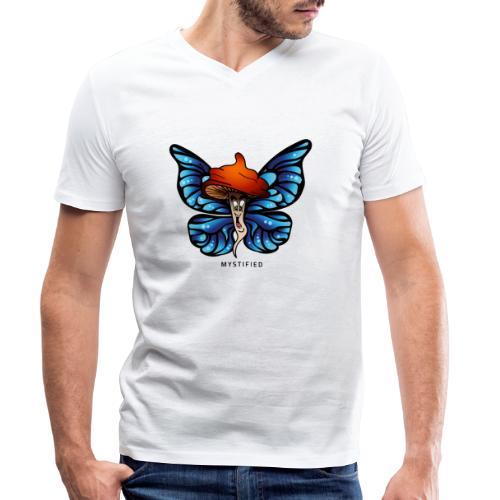 Mystified Butterfly - Mannen bio T-shirt met V-hals van Stanley & Stella