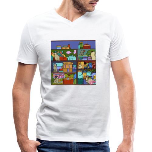 Katte - Økologisk Stanley & Stella T-shirt med V-udskæring til herrer