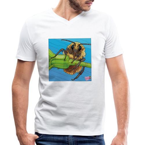 Bi - Økologisk Stanley & Stella T-shirt med V-udskæring til herrer