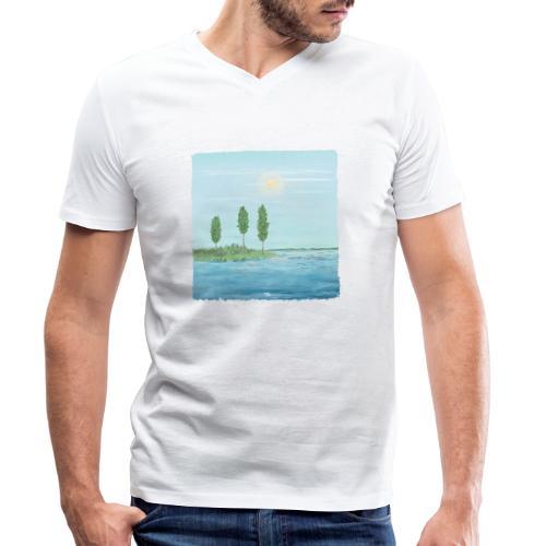 zomertijd - T-shirt bio col V Stanley & Stella Homme