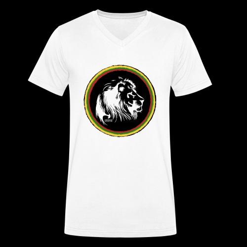 LION HEAD SISSOR CUT UNDERGROUND SOUNDSYSTEM - Männer Bio-T-Shirt mit V-Ausschnitt von Stanley & Stella