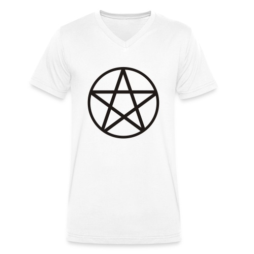 pentagram spread - Ekologiczna koszulka męska z dekoltem w serek Stanley & Stella