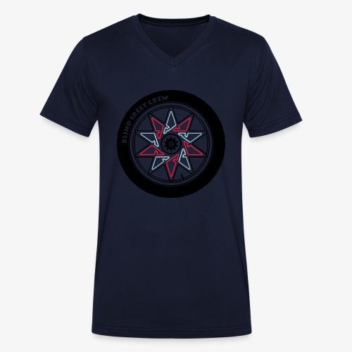 Blind Street Crew BMX - T-shirt ecologica da uomo con scollo a V di Stanley & Stella