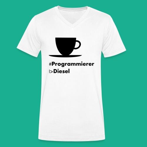 Kaffediesel - Männer Bio-T-Shirt mit V-Ausschnitt von Stanley & Stella