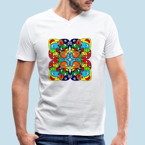 Monsterchen - Männer Bio-T-Shirt mit V-Ausschnitt von Stanley & Stella