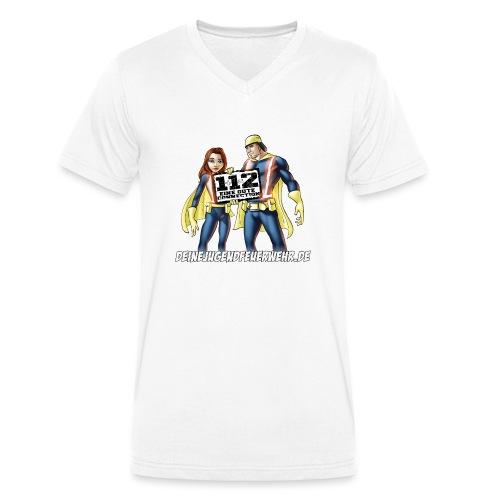 Superhelden & Logo - Männer Bio-T-Shirt mit V-Ausschnitt von Stanley & Stella