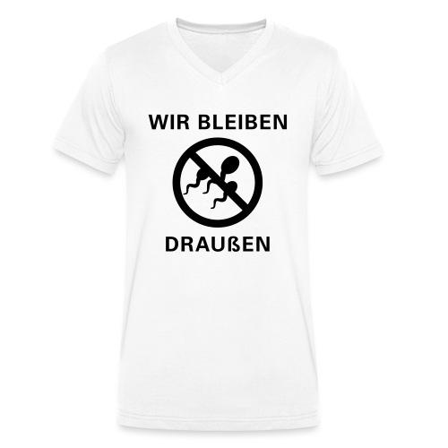 draussen_6x6 - Männer Bio-T-Shirt mit V-Ausschnitt von Stanley & Stella