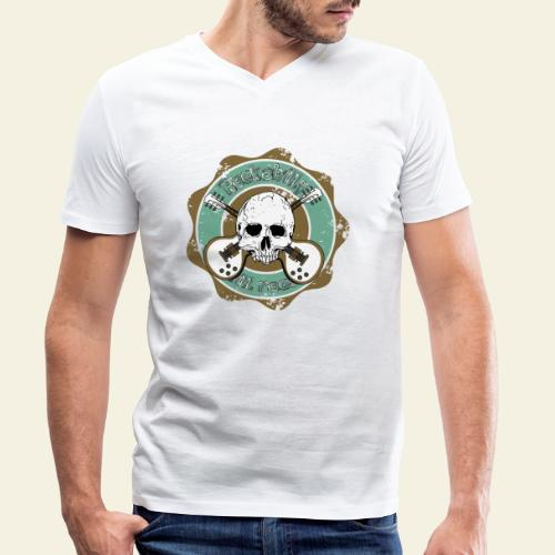 Rockabilly Still Rockin - Økologisk Stanley & Stella T-shirt med V-udskæring til herrer