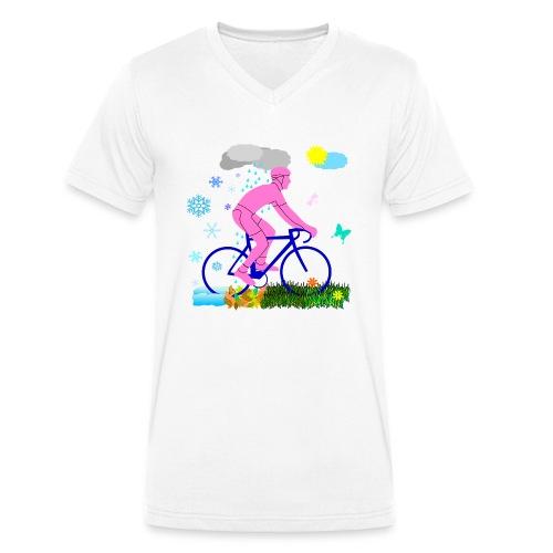Allwetterfahrer - Männer Bio-T-Shirt mit V-Ausschnitt von Stanley & Stella
