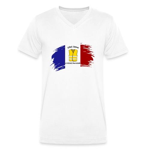 gilet jaune --- je defends mon avenir - T-shirt bio col V Stanley & Stella Homme
