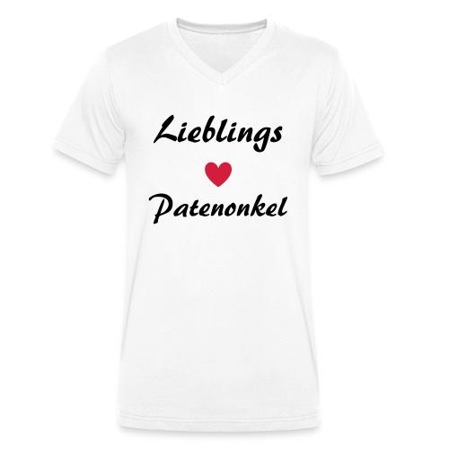 Lieblings Patenonkel mit Herz - Männer Bio-T-Shirt mit V-Ausschnitt von Stanley & Stella