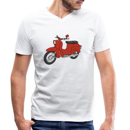 Schwalbe (ibizarot) - Männer Bio-T-Shirt mit V-Ausschnitt von Stanley & Stella