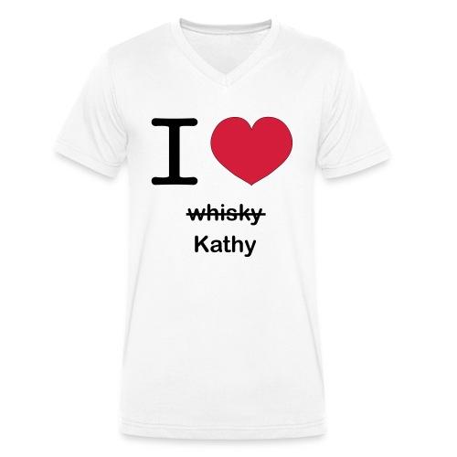 ilovekathy - Mannen bio T-shirt met V-hals van Stanley & Stella