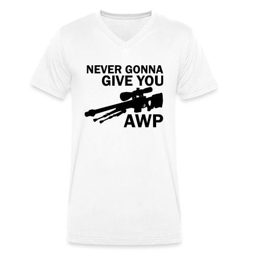 Never gonna give you AWP - Stanley & Stellan miesten luomupikeepaita