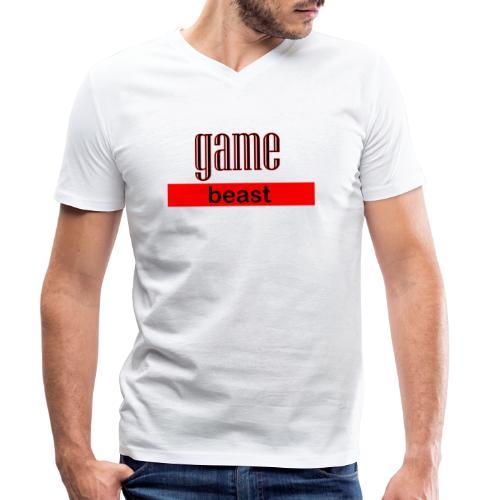 gamebeast - Mannen bio T-shirt met V-hals van Stanley & Stella