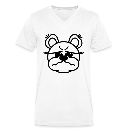 Bärchen schlecht gelaunt - Männer Bio-T-Shirt mit V-Ausschnitt von Stanley & Stella