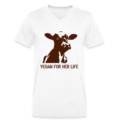 vegan for her life - Männer Bio-T-Shirt mit V-Ausschnitt von Stanley & Stella
